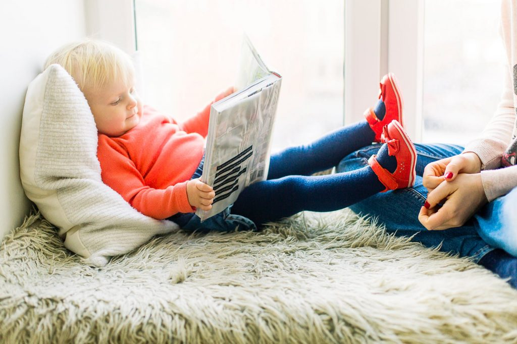 Reading can be such a beautiful way for a child to unwind and relax