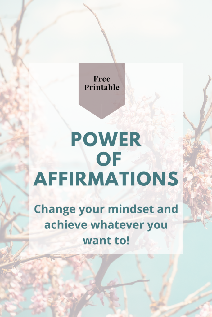 Free Affirmations printable. 30 days of affirmations