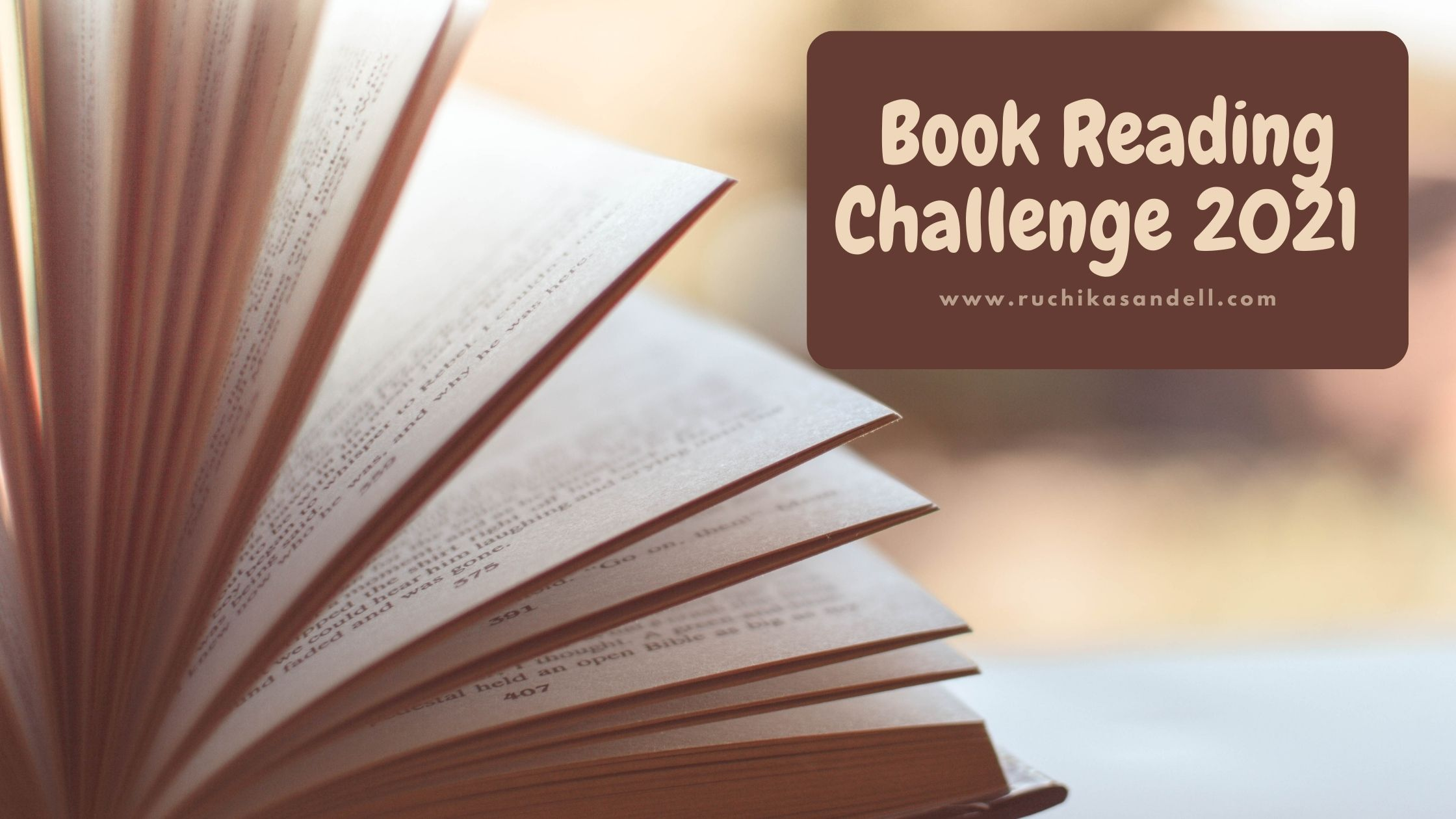 Book reading Challenge for 2021
