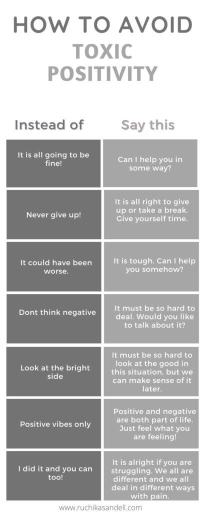 How to avoid toxic positivity.