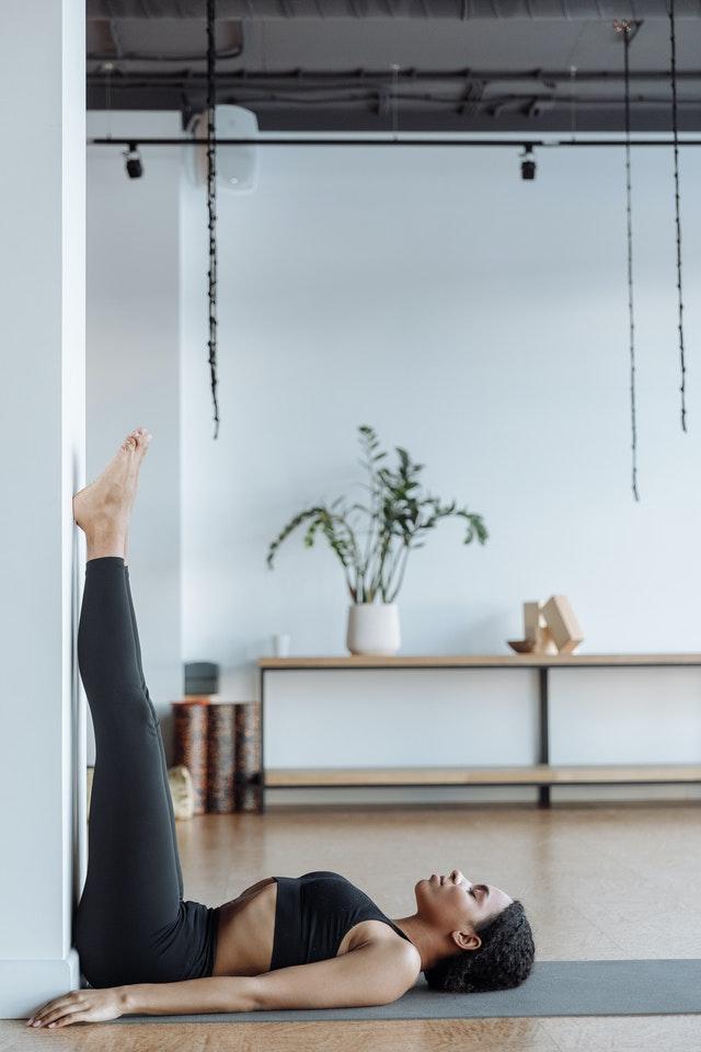 Restorative yoga - legs up the wall